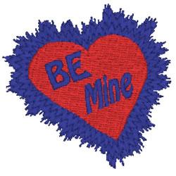 Heart Burst Be Mine embroidery design