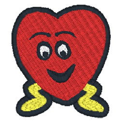 Smiling Heart embroidery design