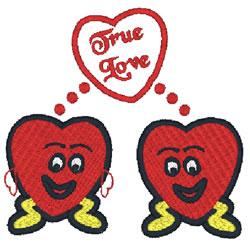 True Love Hearts embroidery design
