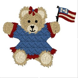 Americana Bear embroidery design