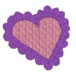 Pretty Heart Doily embroidery design