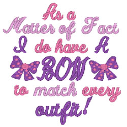 As A Matter Of Fact embroidery design