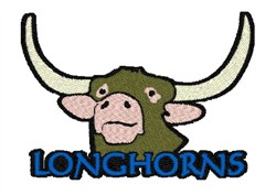 Longhorn Mascot embroidery design