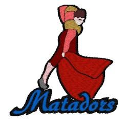 Matadors Mascot embroidery design