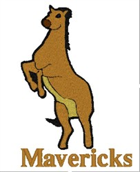 Mavericks Mascot embroidery design