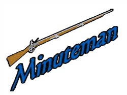 Minuteman Mascot embroidery design