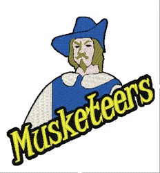 Musketeers Mascot embroidery design
