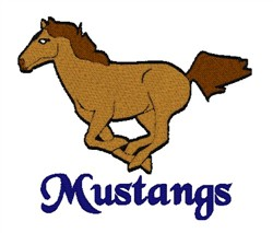 Mustang Mascot embroidery design