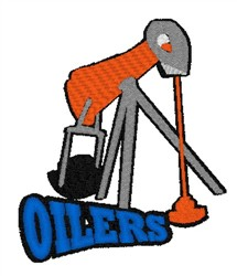Oilers Mascot embroidery design