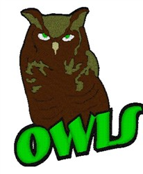 Owls Mascot embroidery design