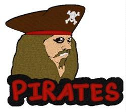 Pirates Mascot embroidery design