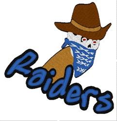Raiders Mascot embroidery design