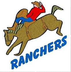 Ranchers Mascot embroidery design