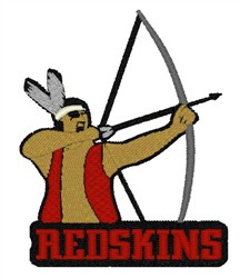 Redskins Mascot embroidery design