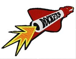 Rockets Mascot embroidery design