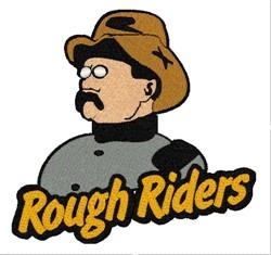 Rough Riders Mascot embroidery design