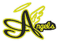 Angels Mascot embroidery design
