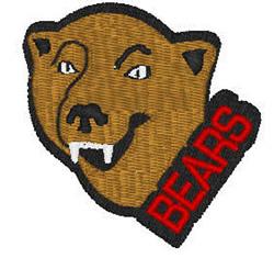 Bears Mascot embroidery design