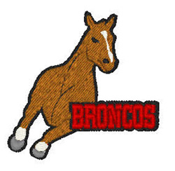 Broncos Mascot embroidery design