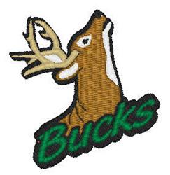 Bucks Mascot embroidery design