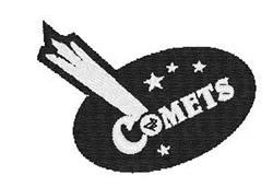 Comets Mascot embroidery design