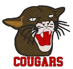 Cougars Mascot embroidery design