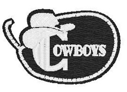 Cowboys Mascot embroidery design