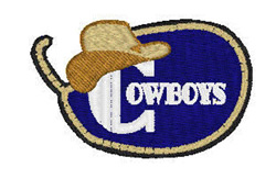 Cowboys Mascot embroidery design