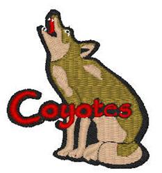 Coyote Mascot embroidery design