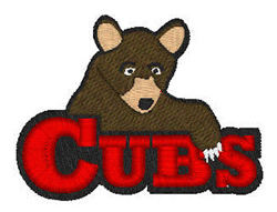Cubs Mascot embroidery design
