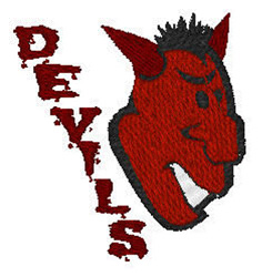 Devils Mascot embroidery design