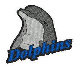 Dolphins Mascot embroidery design