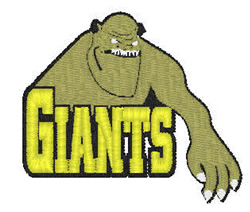 Giants Mascot embroidery design
