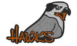 Hawks Mascot embroidery design