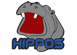 Hippos Mascot embroidery design