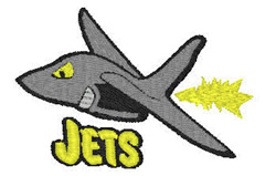 Jets Mascot embroidery design