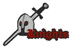 Knights Mascot embroidery design