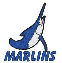Marlins Mascot embroidery design