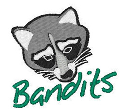 Bandits Mascot embroidery design