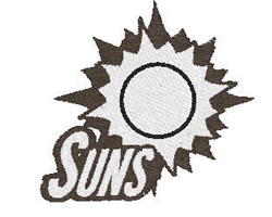 Suns Mascot embroidery design