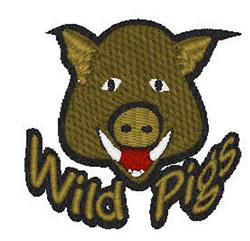 Wild Pigs Mascot embroidery design