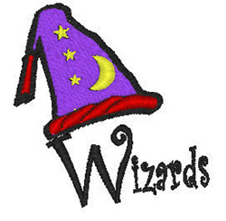 Wizards Mascot embroidery design