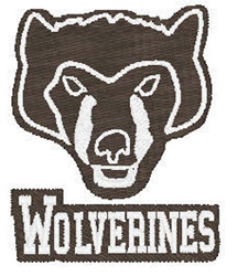 Wolverines Mascot embroidery design
