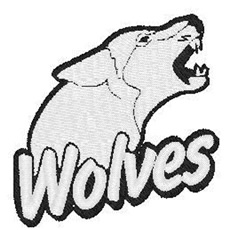 Wolves Mascot embroidery design