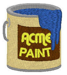 Acme Paint embroidery design