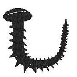 Bent Screw embroidery design