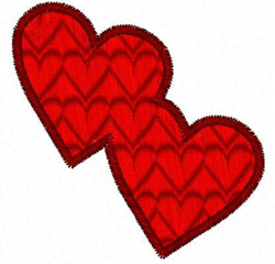 Double Heart Fill embroidery design