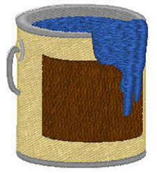 Paint Can embroidery design