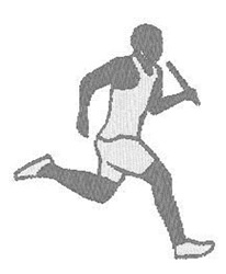 Runner With Baton embroidery design