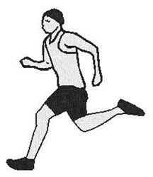 Male Runner embroidery design